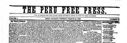 Peru Free Press newspaper archives