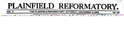 Plainfield Reformatory newspaper archives