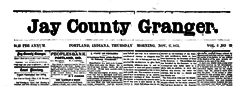 Portland Jay County Granger newspaper archives