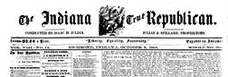 Richmond Indiana True Republican newspaper archives