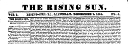 Rising Sun newspaper archives