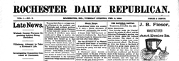 Rochester Daily Republican newspaper archives