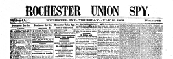 Rochester Union Spy newspaper archives
