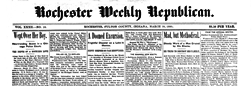 Rochester Weekly Republican newspaper archives
