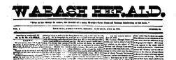 Rockville Wabash Herald newspaper archives