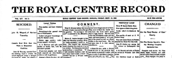 Royal Center Royal Centre Record newspaper archives