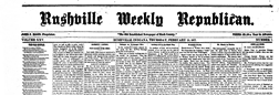 Rushville Weekly Republican newspaper archives