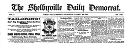 Shelbyville Daily Democrat newspaper archives