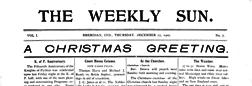 Sheridan Weekly Sun newspaper archives