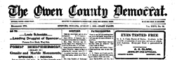 Spencer Owen County Democrat newspaper archives
