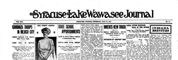 Syracuse Lake Wawasee Journal newspaper archives