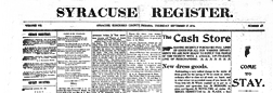 Syracuse Register newspaper archives