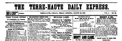 Terre Haute Daily Express newspaper archives