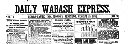 Terre Haute Daily Wabash Express newspaper archives