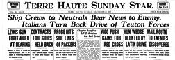 Terre Haute Sunday Star newspaper archives