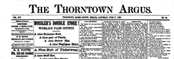 Thorntown Argus newspaper archives