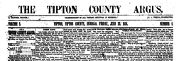 Tipton County Argus newspaper archives