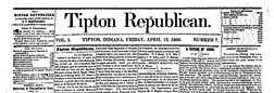 Tipton Republican newspaper archives