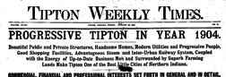 Tipton Weekly Times newspaper archives