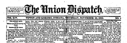 Union Dispatch newspaper archives