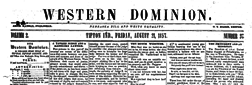 Western Dominion newspaper archives