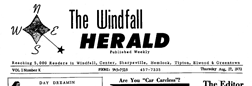 Windfall Herald newspaper archives
