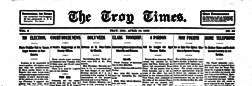 Troy Times newspaper archives