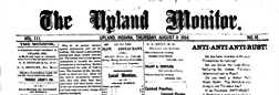Upland Monitor newspaper archives