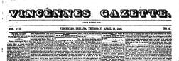 Daily Vincennes Gazette newspaper archives