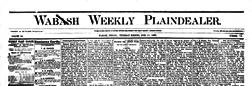 Wabash Weekly Plain Dealer newspaper archives