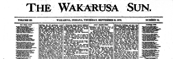 Wakarusa Sun newspaper archives