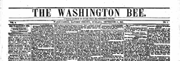 Washington Bee newspaper archives