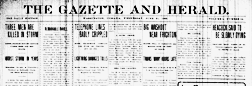 Washington Gazette And Herald newspaper archives