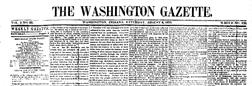 Washington Gazette newspaper archives