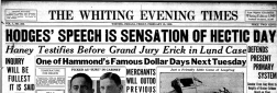 Whiting Evening Times newspaper archives