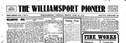 Williamsport Pioneer newspaper archives