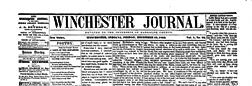 Winchester Randolph Journal newspaper archives