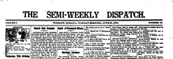 Winslow Semi Weekly Dispatch newspaper archives