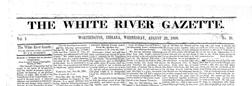 Worthington White River Gazette newspaper archives