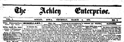Ackley Enterprise newspaper archives