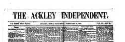 Ackley Independent newspaper archives