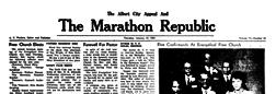 Albert City Marathon Republic newspaper archives