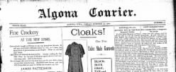 Algona Courier newspaper archives