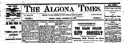 Algona Times newspaper archives