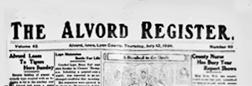 Alvord Register newspaper archives