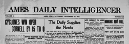 Ames Daily Intelligencer newspaper archives