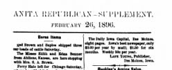 Anita Republican newspaper archives