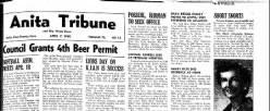 Anita Tribune newspaper archives