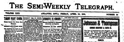 Atlantic Semi Weekly Telegraph newspaper archives