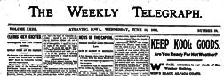 Atlantic Weekly Telegraph newspaper archives